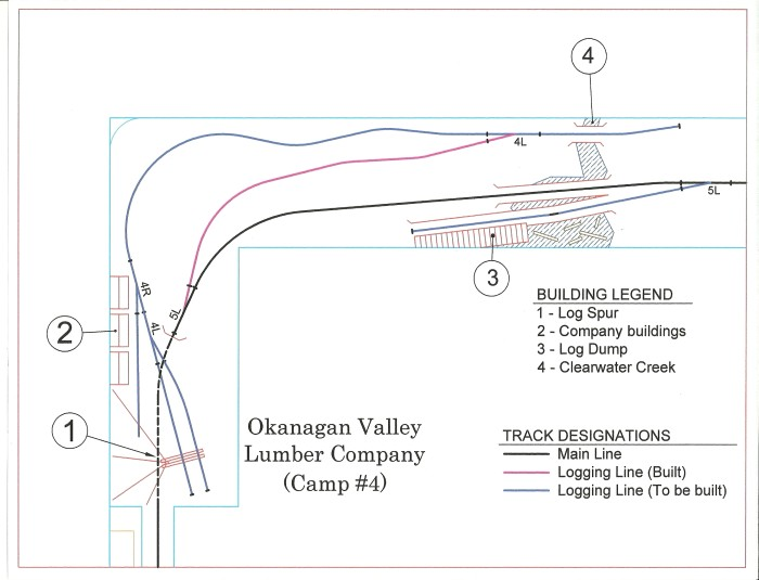 Okanagan Valley Lumber Co. Camp #4 Trackplan